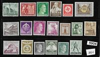 #5904    Mixed MH stamp group / Adolph Hitler / Third Reich Germany Postage
