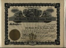 Inter-Mountain Oil & Gas Company, Limited Stock Certificate Boise Idaho