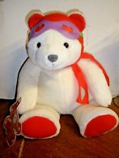 New Hallmark plush Love is in the Air pilot white bear with tags