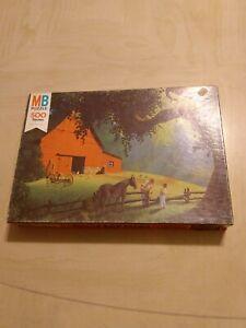 Milton Bradley Good Old Days Puzzle 4181 Vintage Colorful Graphics Picturesque