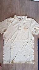 Para hombre Abercrombie and Fitch A&F músculo Blanco Con Cuello Polo Camiseta L Grande