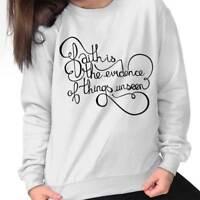 Faith Evidence Of Things Unseen Christian Sweat Shirt Sweatshirt For Womens