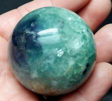 """2"""" Fluorite Crystal Ball Sphere W/Stand Metaphysical Healing C324"""