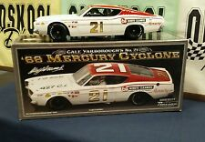 Cale Yarborough #21 1968 mercury Cyclone  AUTOGRAPHED Univ of Racing 1:24 Scale