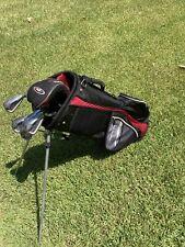 Top Flight Lightweight Golf Bag w/Stand & 6  XL7000 Clubs 6,7,8,PW,SW, & Hyper24