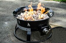 Portable Propane FirePit Includes Propane Tank Cover Camping Outdoors Patio Deck