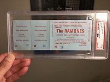 1978 Ramones Concert Ticket Manchester England PSA 5