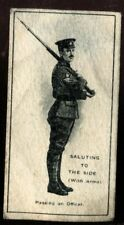 Tobacco Card, Imperial Canada, INFANTRY TRAINING, 1915, Saluting, #30