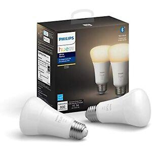 Philips Hue White 2-Count A19 Bluetooth Smart LED Bulb