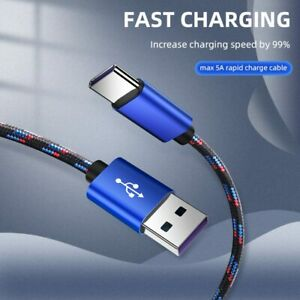 USB-C Type C Cable For Android Xiaomi Redmi Huawei Super Fast Charging