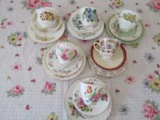 6 Vintage TRIOS Tea Cup & Saucer Plate Mismatched English China High Tea Party A