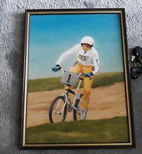 Vintage 1985 PAINTING  BY DON SCOTT .GETH SHOOTER..BRITISH CHAMPION.BMX HISTORY