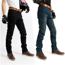 Motorcycle riding jeans with knee upgrade protection men and women racing jeans