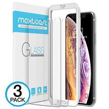 Maxboost Screen Protector For  Iphone Xs Max (6.5 Inch) (Clear, 3 Packs) 0.25Mm