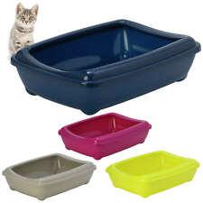 Gato Grande Camada bandeja con borde 50x38x14cm 4 Colores Calidad Caja Inodoro Scoop