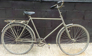 ARMY : WWII EUROPEAN MILITARY BICYCLE - REPAINTED (PJ)