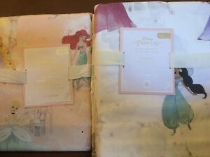POTTERY BARN KIDS Disney Princess F/Q Castle Pink Duvet & FULL Sheets Set - NEW