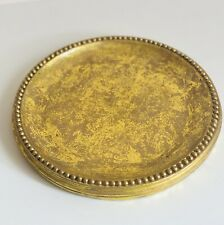 Yankee Candle Company Large Gold Leaf Rope Trim Candle Holder Plate Christmas