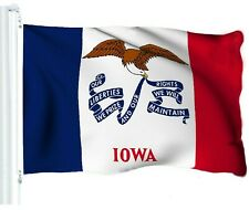 G128 - Iowa State Flag 3x5 ft Printed Brass Grommets 150D Quality Polyester Flag