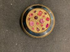 New ListingVintage Jeweled & Enameled Ladies Powder Purse Compact Nr