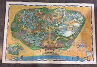 "Vintage Authentic 1966 Walt Disney Disneyland Park Poster Map   30"" X 45""."