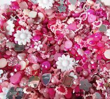 Mezcla de cabujón rosa 10g Resina Dorso duro para Libros de Acrílico Joya Perlas Allsorts-Rosa Tonos