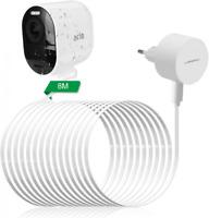 LANMU Netzteil Adapter Ladeadapter und Ladekabel mit Kabelclip für Arlo Ultra Se