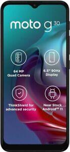 MOTOROLA MOTO G30-Unlocked Dual SIM-Stock Android-6.5in HD+ 90Hz Display-NFC