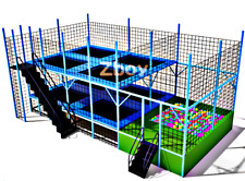 690 sqft Commercial Trampoline Park Dodgeball Climb Gym Inflatable We Finance