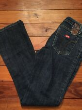 "25 (Size 2) Miss Sixty Extra Low Ty Dark Wash Bootcut 30"" Inseam"