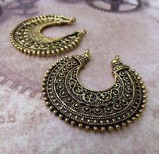 8 pcs - Antique Gold Chandelier Earring Component, connector, pendant, filigree