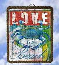 Tropical Beach 66 Wall Art Blue Crab Wall Décor Coastal lalarry Vintage framed
