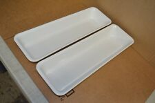 "2 Carlisle 2 1/2"" Deep Half Long Food Pans - 55528"
