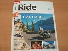 """Ride NO.1 MOTORRAD UNTERWEGS """"GARDASEE mit Karte"""" Ausgabe 2019"""