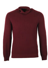 New  TOM FORD Red Turtleneck Sweater Size 48 / 38R U.S. In Wool Cashmere Swea...