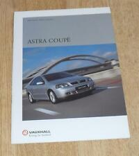 Vauxhall Astra G Coupe Brochure 2001 1.8 16v Coupe 2.2 Bertone 2.0 Turbo Edition