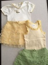 Babygap girls size 12-18-24mo/2T, Mixed Lot/Outfits, Bodysuit, Tank, Skirts, 4pc