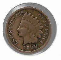 USA Rare Very Old Antique 1909 US Indian Head Penny Cent Collection Coin Lot i30