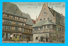 Halberstadt - Rathaus, Ostseite - Litho gel. 1904