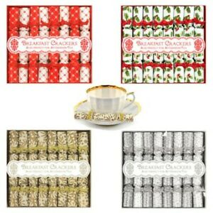 8 Luxury Mini Crackers - Breakfast, Afternoon Tea, Saucer Cracker Choose Design
