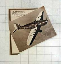 1939 New Plane Designed Produced Hanworth For Training Civil Air Guard