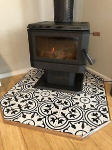 Custom Wood Heater Hearths