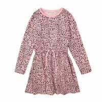Girls Animal Print Cotton Jersey Dress Ages 3,4,5,6,7,8,9,10,11,12,13 Years