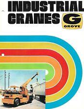 Equipment Brochure - Grove - Industrial Cranes - General Overview c1975 (E6546)