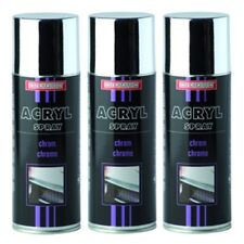 SPRÜHLACK CHROME 3x 400ml SPRAY CHROMEFARBE CHROMSPRAY CHROMLACK AUTOLACK TROTON