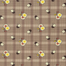 Denyse Schmidt PWDS128 Winter Walk Floral Plaid Bark Cotton Fabric By Yd