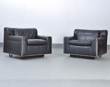 2x Knoll International | Heli Lounge Chair , Ledersessel, Sessel, Design O. Zapf