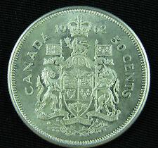 1962 Canada 50 cents silver  Brilliant UNC BU choice coin