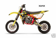 Dirt Bike Graphics Kit decal Sticker Wrap For Cobra CX50 2007-2012 REAPER YELLOW