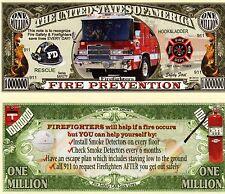 Fire Safety/Prevention Million Dollar Novelty Money